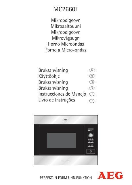 Opskrifter på automatisk tilberedning - Electrolux