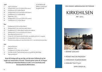 KIRKEHILSEN - Den Danske Sømandskirke Rotterdam