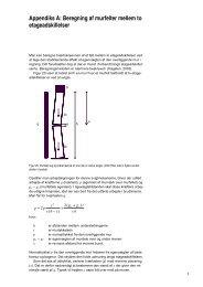 Appendiks A: Beregning af murfelter mellem to etageadskillelser