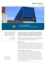 EV TRANSPORT - Elbek & Vejrup A/S