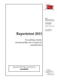 Repertoiret 2013 - DATS