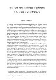 Iraqi Kurdistan: challenges of autonomy in the ... - Chatham House