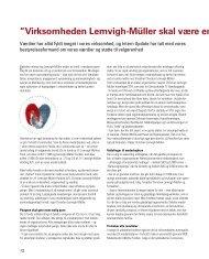 Virksomheden Lemvigh-Müller skal være en god samfu