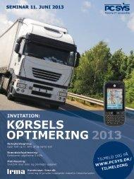 kørsels optimering 2013 invitation - scm.dk