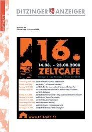 Ditzinger Anzeiger KW 33/2009 - Ditzingen