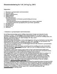 Eksamensbelæring for 1.hf, 2.hf og 3.g 2013