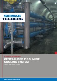 CENTRALISED P.E.S. MINE COOLING SYSTEM - SIEMAG TECBERG