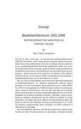 Oversigt Besættelseslitteraturen 2001-2006 - Historisk Tidsskrift