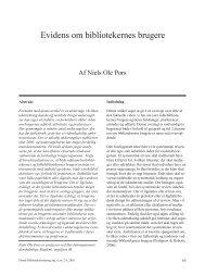 Evidens om bibliotekernes brugere - Dansk Biblioteksforskning