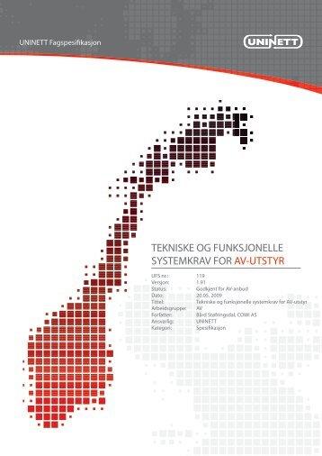 UFS 119 versjon 1.71 - Uninett