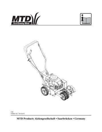 MTD Products Aktiengesellschaft â SaarbrΩcken â Germany