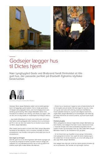 """""""Godsejer lægger hus til Dictes hjem"""", Af Line Grarup Ringgaard ..."""