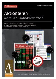 Aktionæren - Dansk Aktionærforening