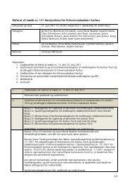Referat af møde nr. 14 i bestyrelsen for Erhvervsakademi Aarhus