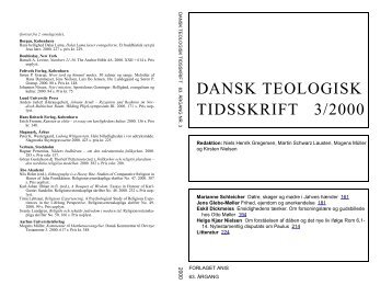 DANSK TEOLOGISK TIDSSKRIFT 3/2000 - Anis