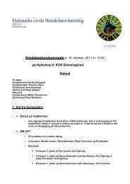 Kredsbestyrelsesmøde - DcH Kreds 1