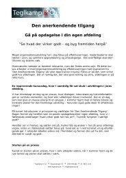 Den anerkendende tilgang - Teglkamp & Co