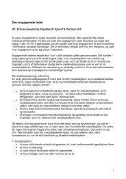 Den engagerede leder - Kjerulf & Partnere A/S