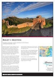 Kina, Riget i Midten, priser fra 9.990 - Albatros Travel