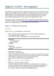 Opgaver i LaTeX – kursusgang 2