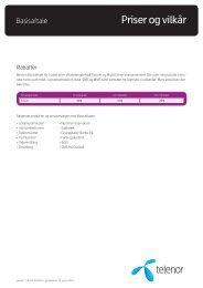 Læs mere i Priser og Vilkår for Basisaftalen - Telenor