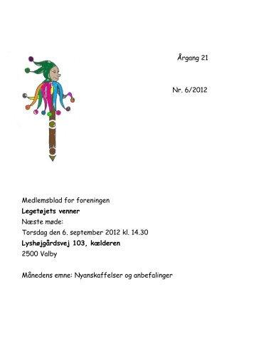 Torsdag den 6. september 2012 kl. 14.30 Lyshø - legven.dk