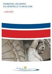 kommunal udligning og generelle tilskud 2008 - juni 2007