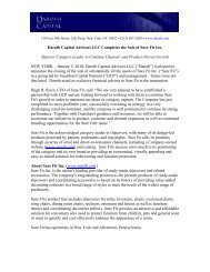 Daroth Capital Advisors LLC Completes the Sale of Sure Fit Inc ...