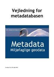 Metadata vejledning - Kort