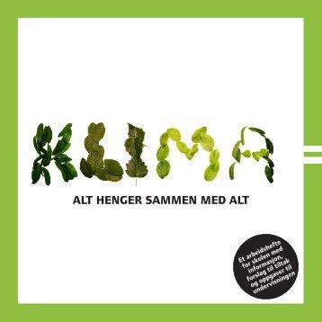 ALT HENGER SAMMEN MED ALT - Miljøstatus i Norge