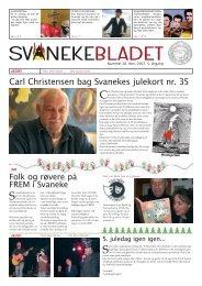 Carl Christensen bag Svanekes julekort nr. 35