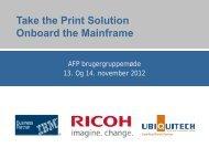 Office-print på mainframe