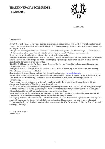 Resultater fra hoppekåringen 2009 - Trakehner Avlsforbundet i