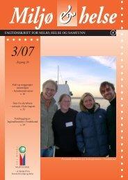 fagtidsskrift for miljø, helse og samfunn f - Forum for Miljø og helse