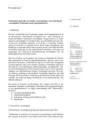 Notat om vurdering af væsentlighed - Finanstilsynet