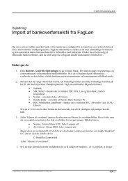 Vejledning - Import af bankoverførselsfil fra FagLøn - SSV