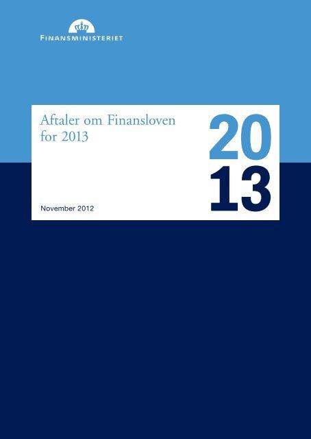 Læs aftaler om Finansloven for 2013 i pdf her - Finansministeriet