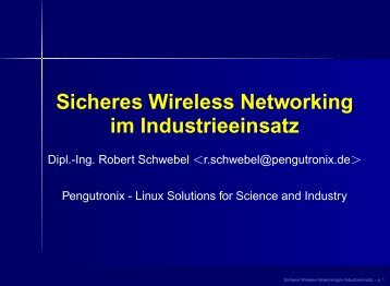 Wireless Networking Vortrag - Pengutronix