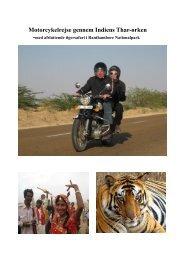 Motorcykelrejse gennem Indiens Thar-ørken