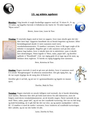 13. ugebrev.pdf - Holeby Skole