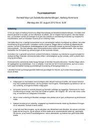 Tilsynsrapport anmeldt tilsyn - Aalborg Kommune