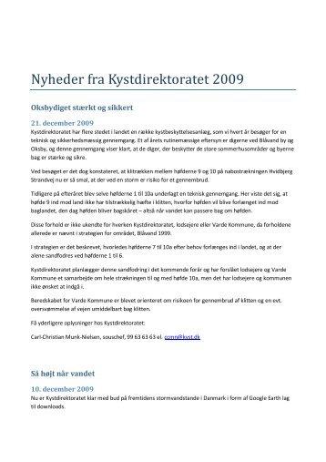 Nyheder fra Kystdirektoratet 2009