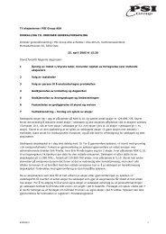 Innkalling til ordinær generalforsamling 25. april ... - PSI Group ASA