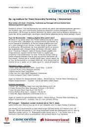 28.03.2010 - Op -og nedture for Team Concordia Forsikring