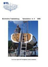 Nyhedsbrev nr. 4 2008 - Bornholm Træbåde Laug