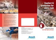 Comfort & protection for every task - Ansell Healthcare Europe
