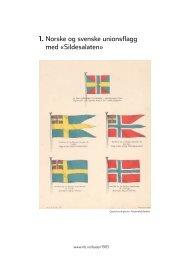 Norske og svenske unionsflagg med - Norges ambassade i Sverige