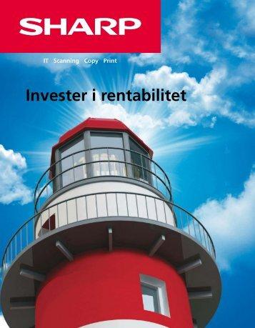Inverster i rentabilitet.pdf - Sharp