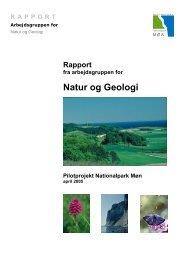 Rapport fra arbejdsgruppen for Natur og Geologi - Nationalparker