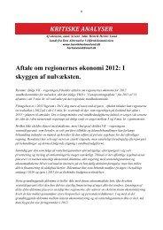 Aftale om regionernes økonomi 2012 - Henrik Herløv Lund